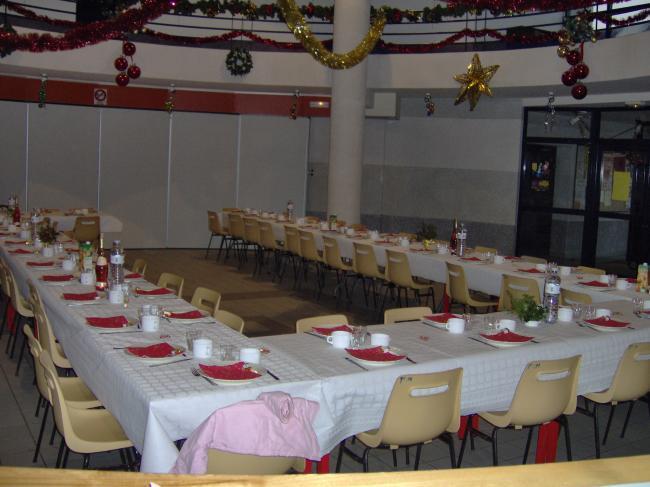 la salle avant le repas